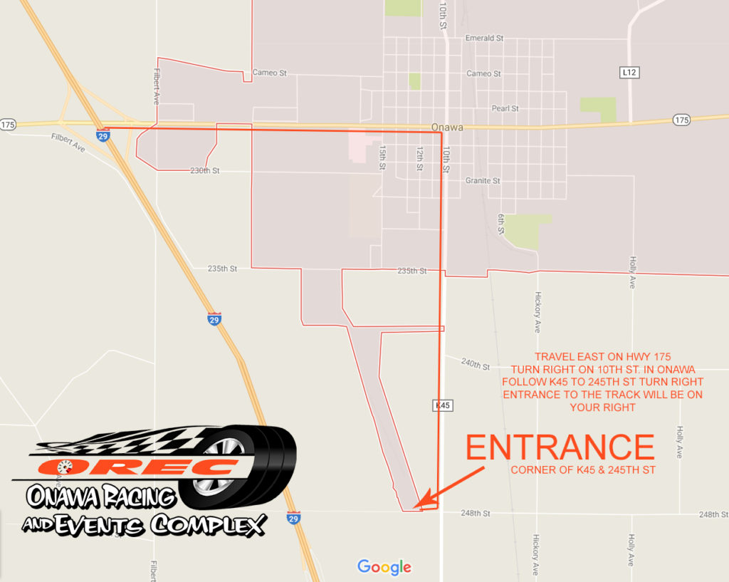 ONAWA RACING MAP